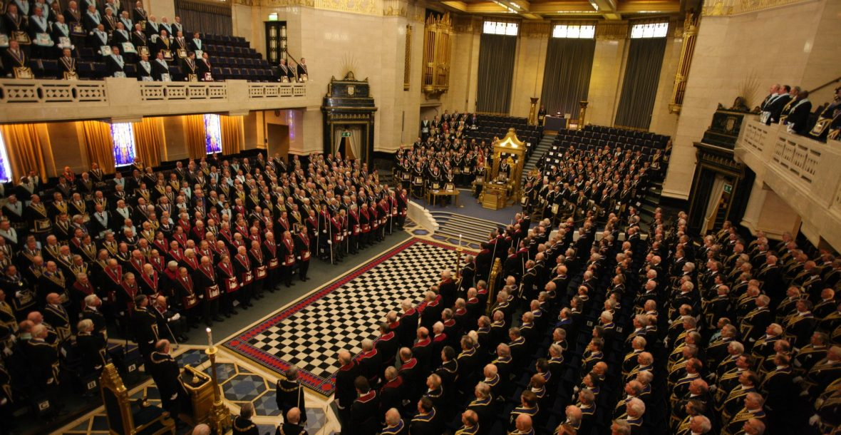Surrey Masons sometimes visit Grand Lodge in London