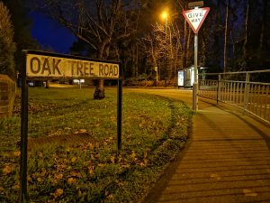 Oak Tree Road - the inspiration for the name of Oak Tree Lodge
